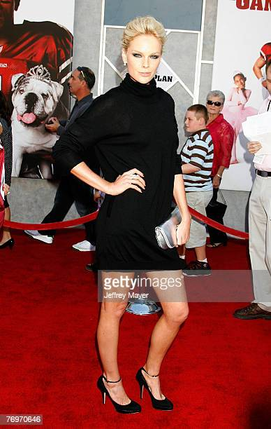 Actress Kate Nauta arrives at the The Game Plan premiere at the El Capitan Theatre on September 23 2007 in Hollywood California