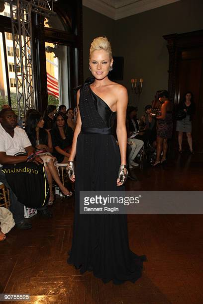 Actress Kate Nauta attends Celestino By Sergio Guadarrama Spring 2010 during MercedesBenz Fashion Week at the Ukrainian Institute Of America on...