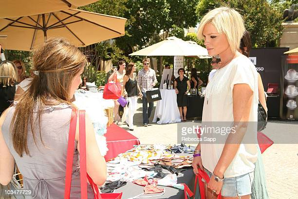 Actress Kate Nauta with Teavalize at Kari Feinstein MTV Movie Awards Style Lounge at a private residence Day 1 on May 29 2008 in Los Angeles...
