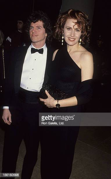 Actress Kate Nelligan and husband Robert Reale attend 49th Annual Golden Globe Awards on January 18 1992 at the Beverly Hilton Hotel in Beverly Hills...