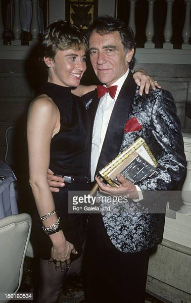 Actress Kate Nelligan and producer Joseph Papp attend Drama Desk Awards on May 29 1986 at the Plaza Hotel in New York City