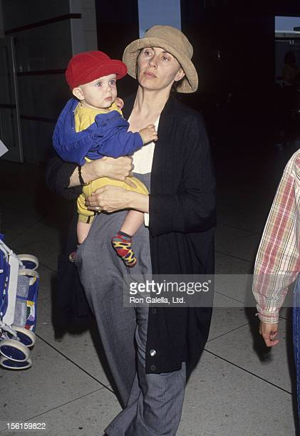 Actress Kate Nelligan and son Gabriel Reale sighted on May 7 1993 at Los Angeles International Airport in Los Angeles California