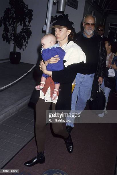 Actress Kate Nelligan and son Gabriel Reale sighted on November 17 1992 at Los Angeles International Airport in Los Angeles California