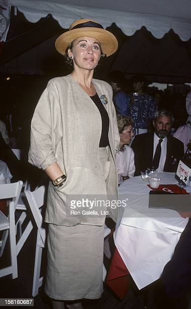 Actress Kate Nelligan attends Canadian Tribute to Statue of Liberty on July 1 1986 at the South Street Seaport in New York City