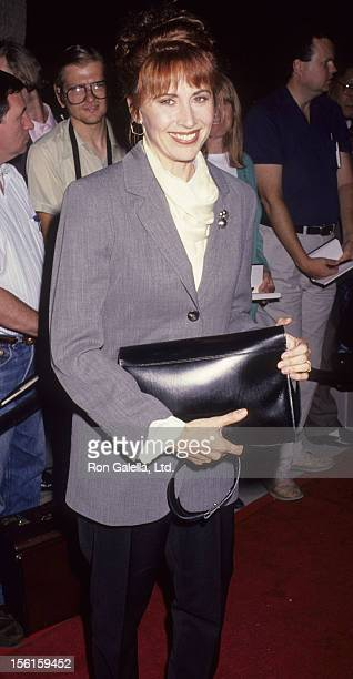 Actress Kate Nelligan attends the premiere of 'Frankie and Johnny' on October 8 1991 at the Academy Theater in Beverly Hills California