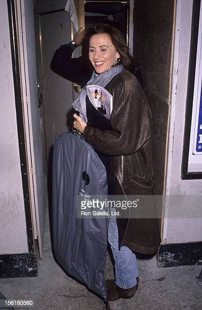 Actress Kate Nelligan attends the premiere of 'The Little Mermaid' on November 13 1989 at the Metropolitan Museum of Art in New York City