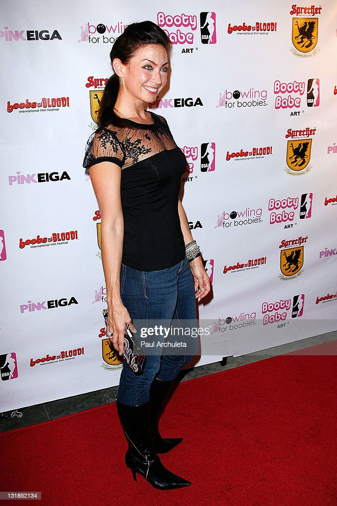 Actress Rena Riffel arrives at the Nude Nuns With Big