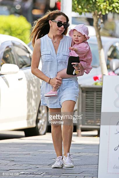 Actress Kate Richie is seen with her daughter Mae Webb on February 11 2016 in Sydney Australia