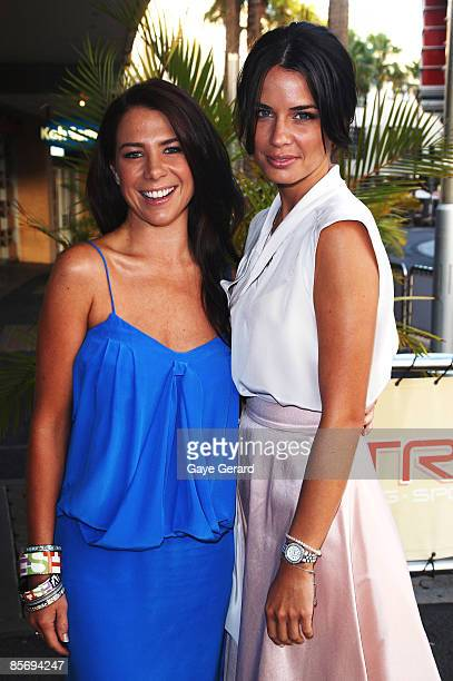 Actress Kate Ritchie and Jodi Gordon arrive for the nominations announcement for the 51st TV Week Logie Awards which takes place on May 3 in...