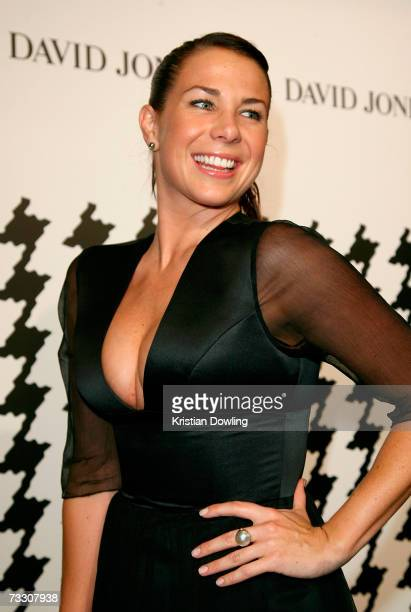 Actress Kate Ritchie arrives at the David Jones Autumn/Winter Collection launch show at Town Hall on February 13 2007 in Sydney Australia The event...
