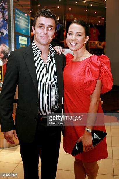 Actress Kate RitchieCorban Harris attend the Sydney premiere of Miss Saigon at the Lyric Theatre on September 22 2007 in Sydney Australia