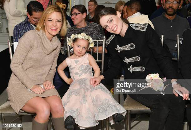Actress Kate Rockwell Ioni James Conran and model Coco Rocha attend Runway Heroes to Benefit Childhood Cancer Research at Kleinfeld on December 10...