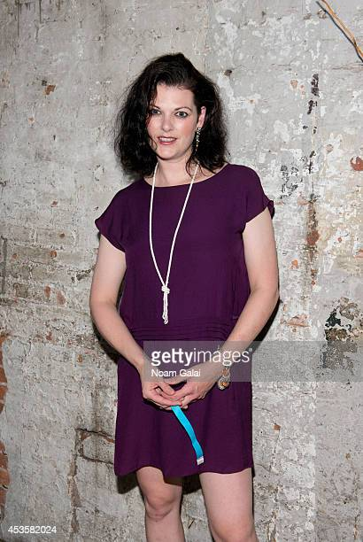 """Actress Kate Shindle attends the """"Revolution In The Elbow Of Ragnar Agnarsson Furniture Painter"""" Opening Night Party at Amity Hall on August 13, 2014..."""