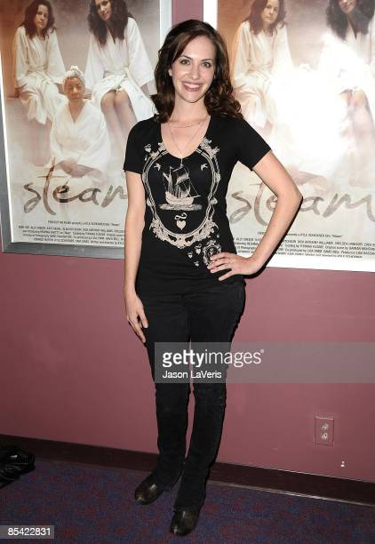 Actress Kate Siegel attends the premiere of Steam at Laemmle's Sunset 5 on March 13 2009 in West Hollywood California