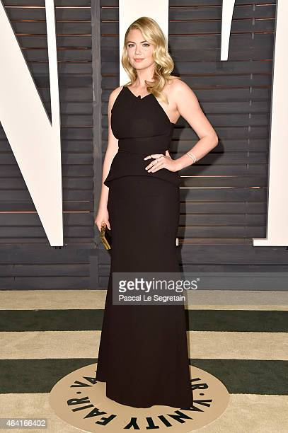 Actress Kate Upton attends the 2015 Vanity Fair Oscar Party hosted by Graydon Carter at Wallis Annenberg Center for the Performing Arts on February...
