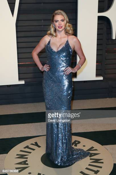 Actress Kate Upton attends the 2017 Vanity Fair Oscar Party hosted by Graydon Carter at the Wallis Annenberg Center for the Performing Arts on...