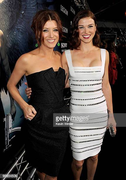 "Actress Kate Walsh and Adrianne Palicki arrives at the premiere of Screen Gems' ""Legion"" at the ArcLight's Cinerama Dome Theater on January 21, 2010..."