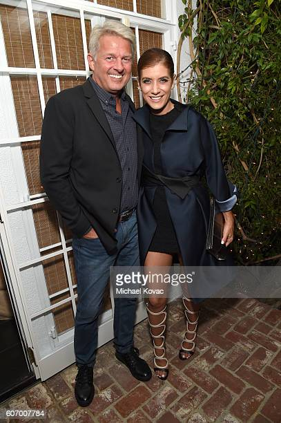 Actress Kate Walsh and guest attend the Gersh Emmy Party presented by World Class Spirits at a private residence on September 16 2016 in Los Angeles...