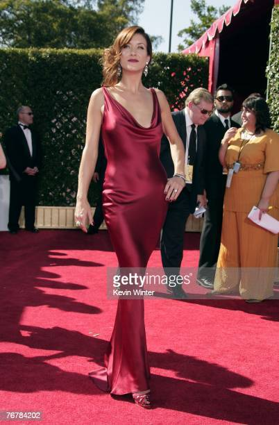 Actress Kate Walsh arrives at the 59th Annual Primetime Emmy Awards at the Shrine Auditorium on September 16 2007 in Los Angeles California