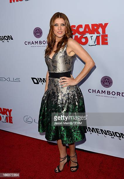 Actress Kate Walsh arrives at the Dimension Films' 'Scary Movie 5' premiere at the ArcLight Cinemas Cinerama Dome on April 11 2013 in Hollywood...