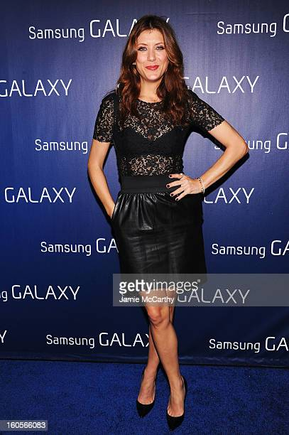 "Actress Kate Walsh at the Samsung Galaxy ""ShangriLa"" Party on February 2 2013 in New Orleans Louisiana"