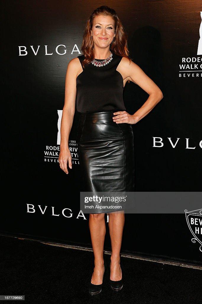 Actress Kate Walsh attends the Rodeo Drive Walk Of Style honoring BVLGARI and Mr. Nicola Bulgari held at Bulgari on December 5, 2012 in Beverly Hills, California.