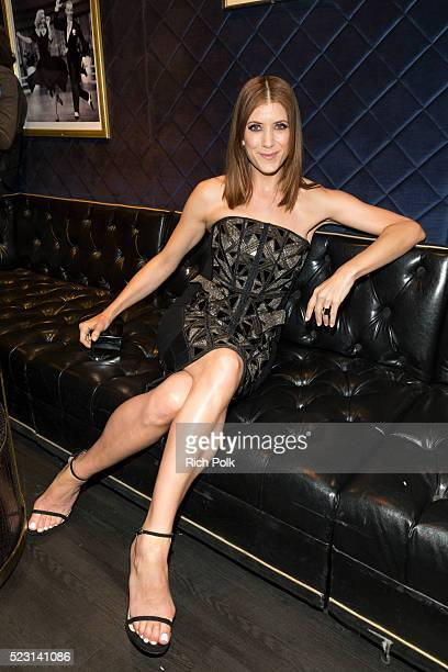 Actress Kate Walsh poses back stage at the Keep It Clean Comedy Benefit for Waterkeeper Alliance at Avalon on April 21 2016 in Hollywood California