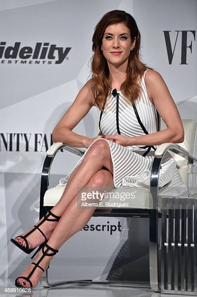 Actress Kate Walsh speaks onstage during Vanity Fair and Fidelity Empowering Conversations at Milk Studios on December 3 2014 in Los Angeles...