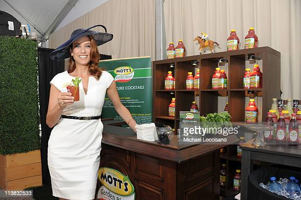 Actress Kate Walsh visits the Mott's Garden Blend VIP suite at the 137th Kentucky Derby at Churchill Downs on May 7 2011 in Louisville Kentucky