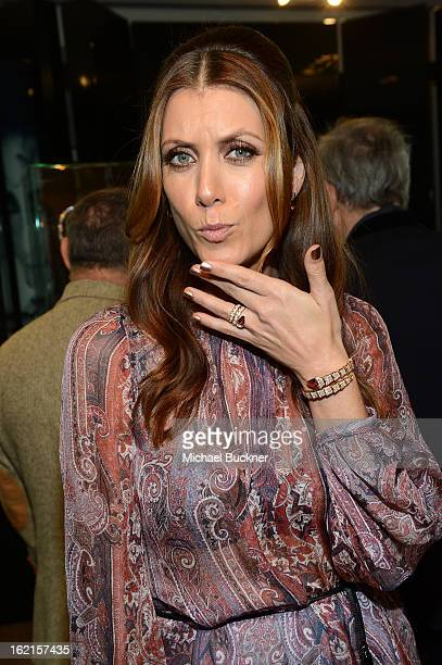 Actress Kate Walsh wearing BVLGARI attends the BVLGARI celebration of Elizabeth Taylor's collection of BVLGARI jewelry at BVLGARI Beverly Hills on...