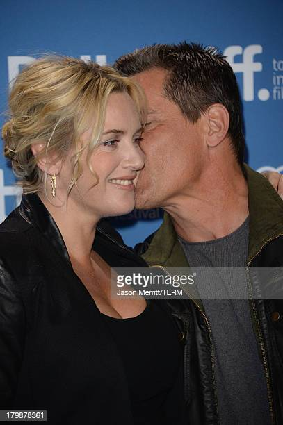 Actress Kate Winslet and actor Josh Brolin attends 'Labor Day' Press Conference during the 2013 Toronto International Film Festival at TIFF Bell...
