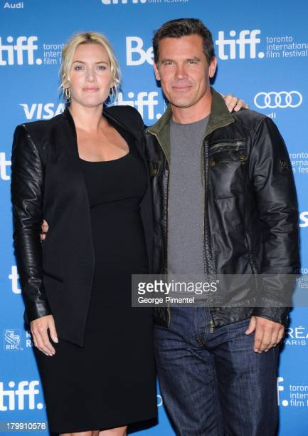 Actress Kate Winslet and Actor Josh Brolin pose at the 'Labor Day' Press Conference during the 2013 Toronto International Film Festival at TIFF Bell...