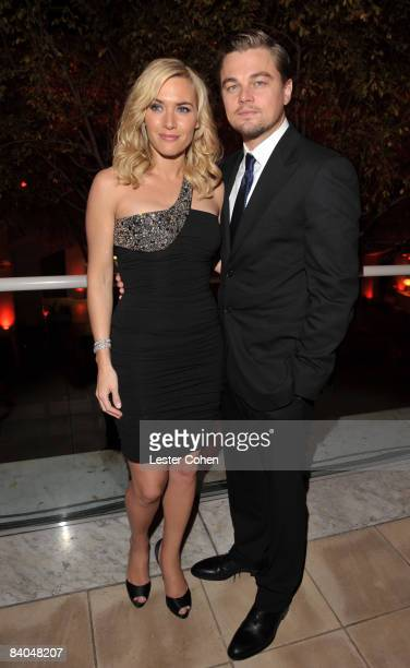 Actress Kate Winslet and actor Leonardo DiCaprio attends the after party of the Los Angeles premiere of 'Revolutionary Road' at the Mann Village...