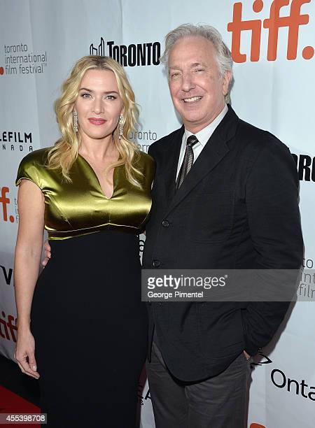 """Actress Kate Winslet and actor/Director Alan Rickman attend the """"A Little Chaos"""" premiere during the 2014 Toronto International Film Festival at Roy..."""