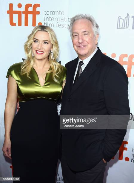 Actress Kate Winslet and actor/Director Alan Rickman attend the 'A Little Chaos' premiere during the 2014 Toronto International Film Festival at Roy...