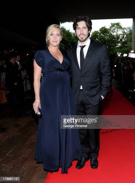 """Actress Kate Winslet and director Jason Reitman attend the """"Labor Day"""" premiere during the 2013 Toronto International Film Festival at Ryerson..."""
