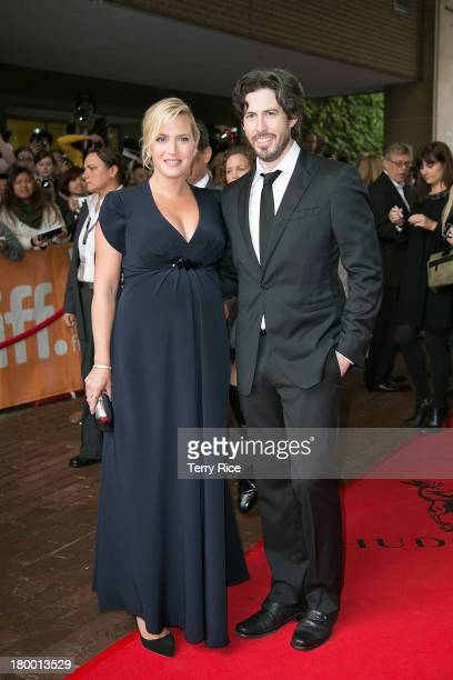 Actress Kate Winslet and director Jason Reitman attend the 'Labor Day' premiere during the 2013 Toronto International Film Festival at Ryerson...