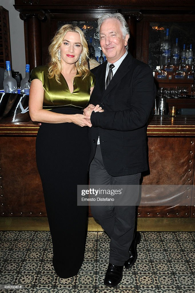 Actress Kate Winslet (L) and director/actor Alan Rickman at 'A Little Chaos' world premiere party hosted by GREY GOOSE vodka and Soho House Toronto during TIFF on September 13, 2014 in Toronto, Canada.