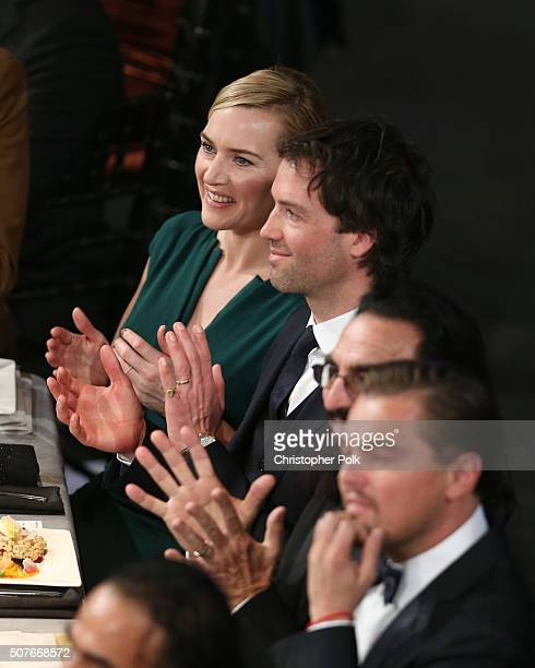 Actress Kate Winslet and Ned Rocknroll attend The 22nd Annual Screen Actors Guild Awards at The Shrine Auditorium on January 30 2016 in Los Angeles...