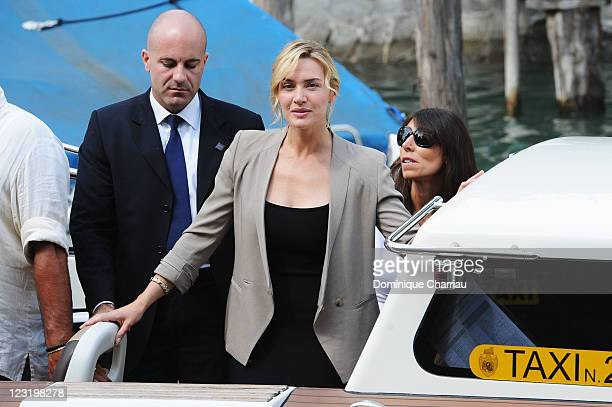 Actress Kate Winslet arrives ahead of the Carnage Photocall during the 68th Venice International Film Festival at Palazzo del Casino on September 1...