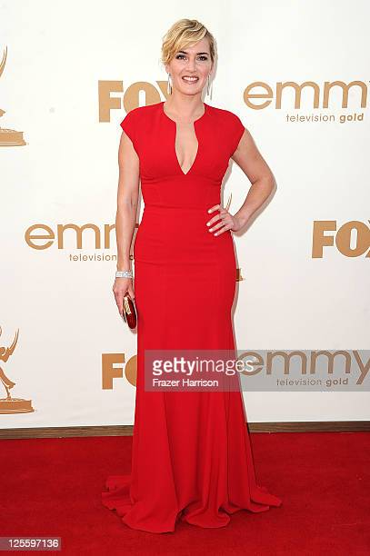 Actress Kate Winslet arrives at the 63rd Annual Primetime Emmy Awards held at Nokia Theatre LA LIVE on September 18 2011 in Los Angeles California