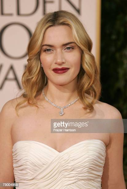Actress Kate Winslet arrives at the 64th Annual Golden Globe Awards at the Beverly Hilton on January 15, 2007 in Beverly Hills, California.