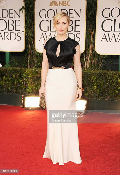 Actress Kate Winslet arrives at the 69th Annual Golden Globe Awards held at the Beverly Hilton Hotel on January 15, 2012 in Beverly Hills, California.