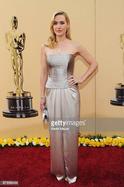 Actress Kate Winslet arrives at the 82nd Annual Academy Awards at the Kodak Theatre on March 7 2010 in Hollywood California