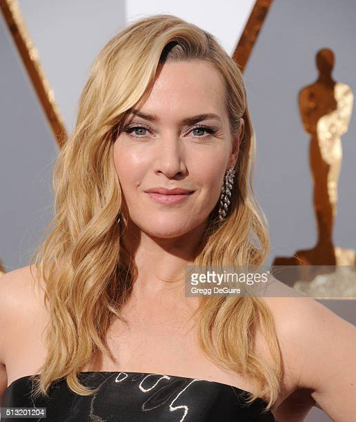 Actress Kate Winslet arrives at the 88th Annual Academy Awards at Hollywood Highland Center on February 28 2016 in Hollywood California