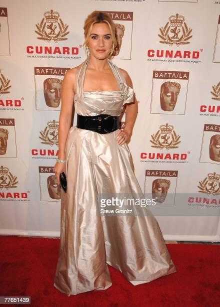 Actress Kate Winslet arrives at the British Academy of Film and Television Arts/Los Angeles Awards, 01 November 2007 in Los Angeles, California.