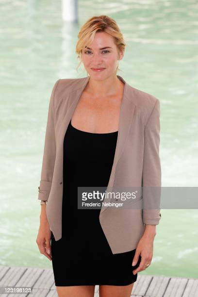 """Actress Kate Winslet arrives at the """"Carnage"""" photocall during the 68th Venice Film Festival at the Palazzo Del Cinemaon September 1, 2011 in Venice,..."""
