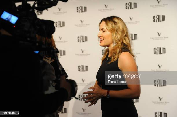 Actress Kate Winslet arrives at the SFFILM's 60th Anniversary Awards Night at Palace of Fine Arts Theatre on December 5 2017 in San Francisco...