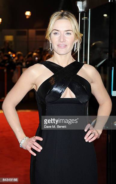 Actress Kate Winslet arrives at the UK Premiere of 'Revolutionary Road' at Odeon Leicester Square on January 18 2009 in London England