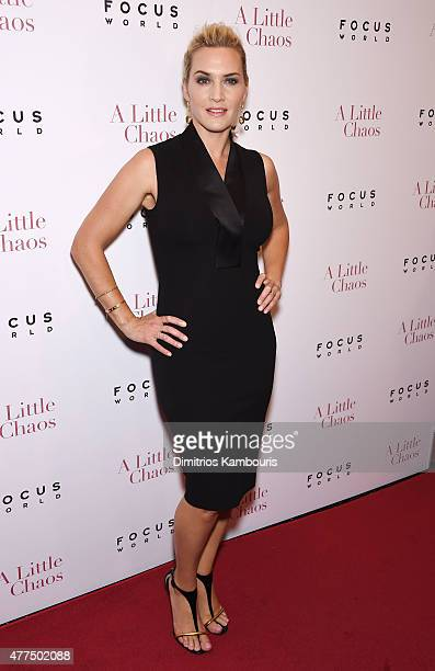 Actress Kate Winslet attend the New York Premiere of A Little Chaos at Museum of Modern Art on June 17 2015 in New York City